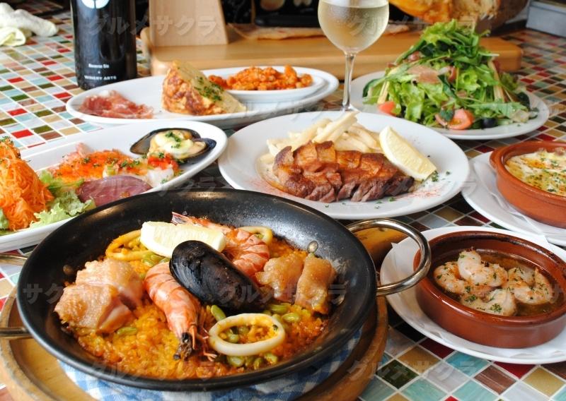 咲楽限定コースはスペイン料理満足ゆくまで