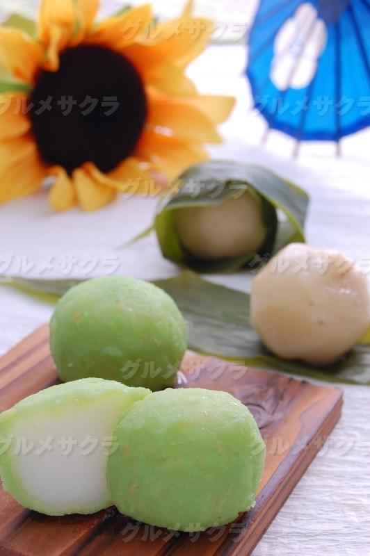 枝豆餅(写真左)、みょうがぼち(写真右)