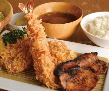 海老&ひれとんかつと名物炙り焼き3種盛セット