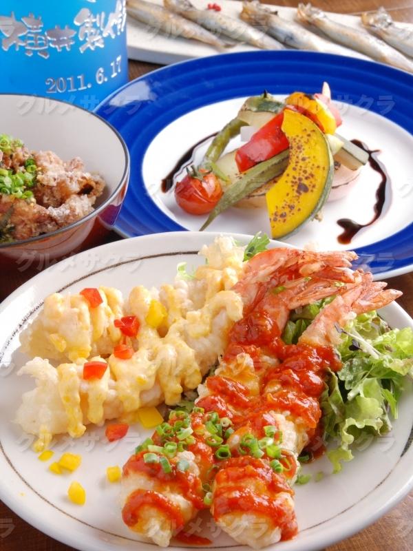 和洋創作料理が自慢!