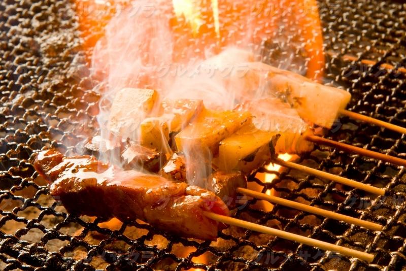 炭火焼き豚串