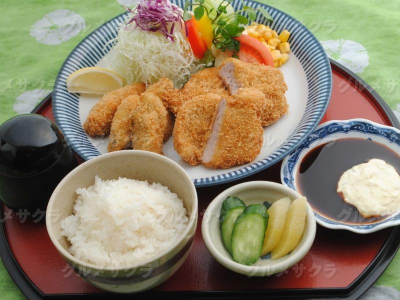カキフライとひれカツ御膳1,700円
