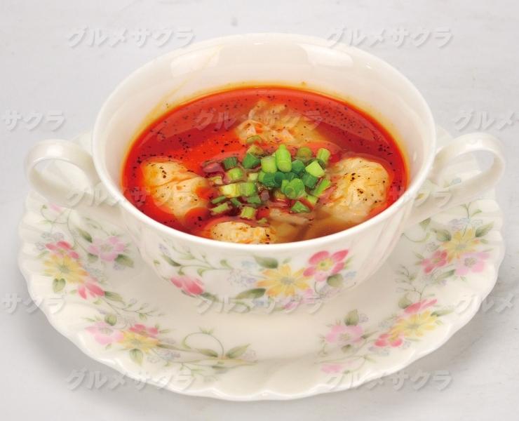 特製辛しミソ入りワンタンスープ