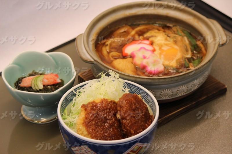 ヒレカツ丼と味噌煮込みうどんセット